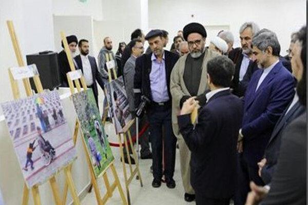 نمایشگاه عکس جانبازان هنرمند در لبنان افتتاح شد
